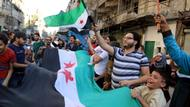 Demonstranten in Aleppo
