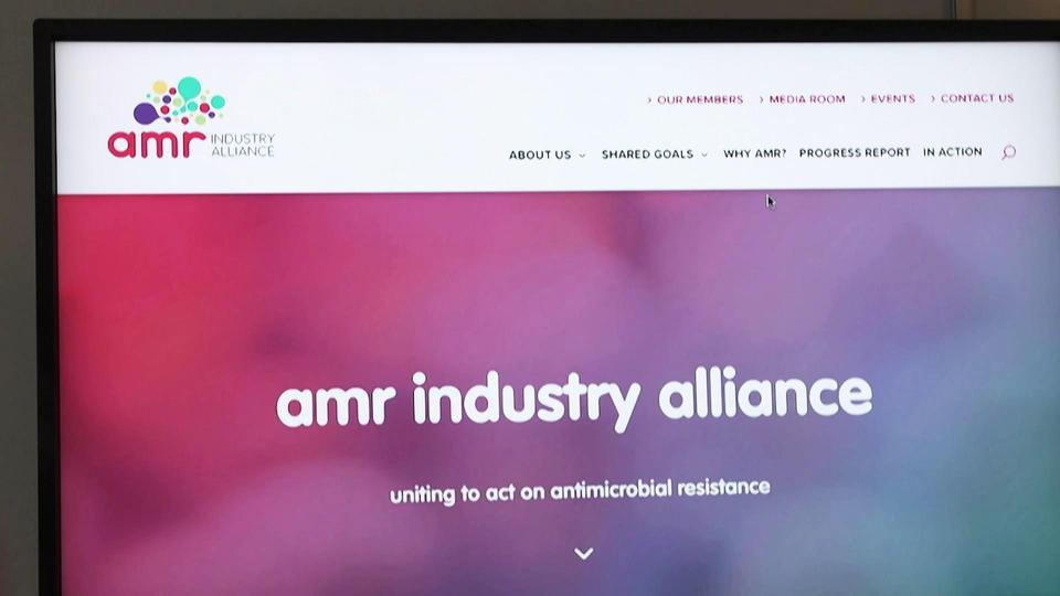 Website der AMR Alliance (Screenshot)