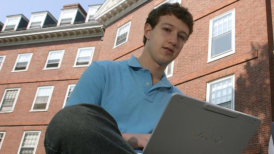 Facebook-Gründer Mark Zuckerberg 2004 an der Harvard University, Cambridge