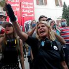 Protestierende in Beirut   REUTERS