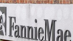Logo der Zentrale des US-Hypothekenfinanzierers Fannie Mae  in Washington
