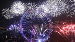 Silvesterfeuerwerk in London