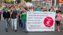 Demonstration in Heidenau.