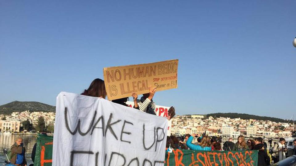 Lesbos, Wake up Europe