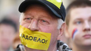 Demonstrant in Moskau | Bildquelle: AFP