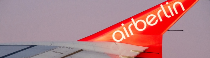 Air Berlin-Logo an einer Tragfläche | Bildquelle: picture alliance / Peter Kneffel