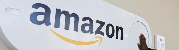 Amazon-Logo in Birmingham/Alabama | Bildquelle: AP