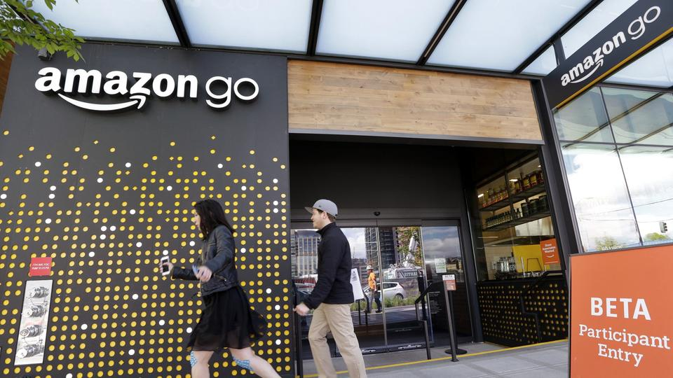 Erste Amazon-Go-Filiale in Seattle | Bildquelle: AP