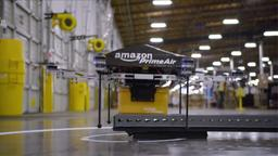 "Amazon-Auslieferungsdrohne ""Octocopter"" (Screenshot eines Amazon-Videos auf YouTube)"