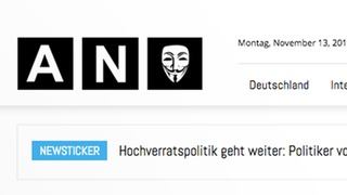 Screenshot von  anonymous news | Bildquelle: www.anonymousnews.ru/