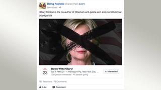 Screenshot Facebook Anti HRC Event