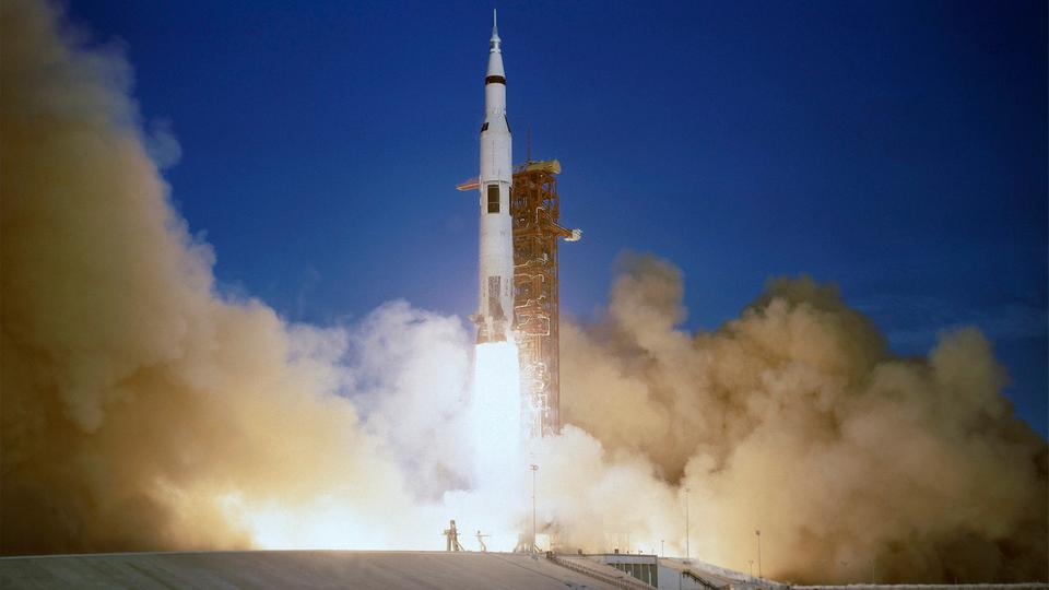 Start der ''Apollo 8''-Mission am 21. Dezember 1968