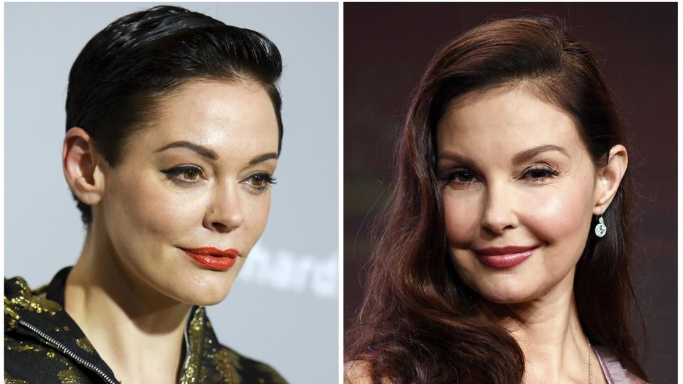 Die Hollywood-Schauspielerinnen Rose McGowan (links) und Ashley Judd (rechts). | Bildquelle: AP