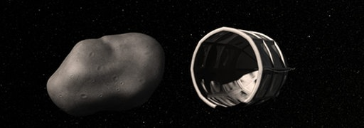 "Erdnaher Asteroid - Animation der Firma ""Planetary Resources"""