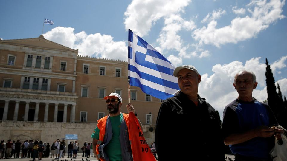Demonstranten in Athen | Bildquelle: REUTERS