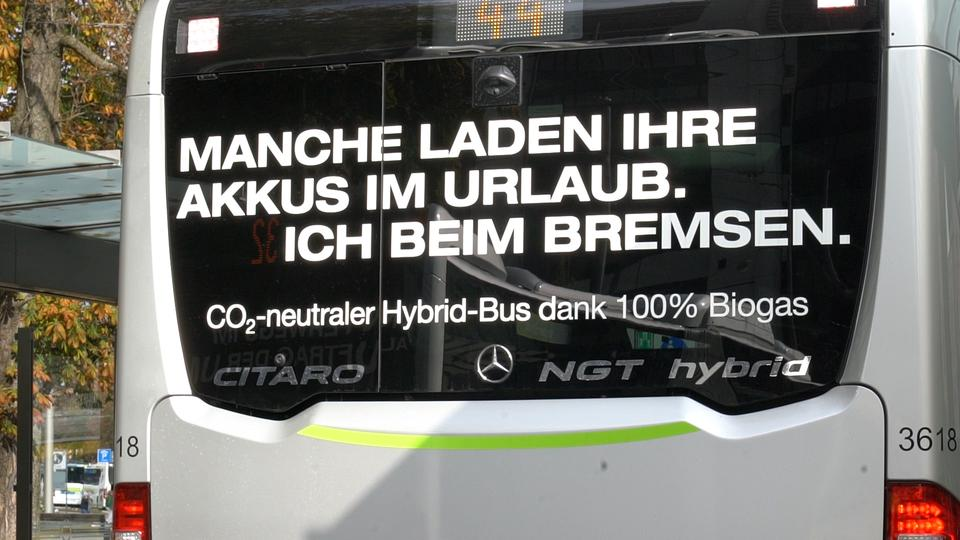 Hybrid-Bus in Augsburg
