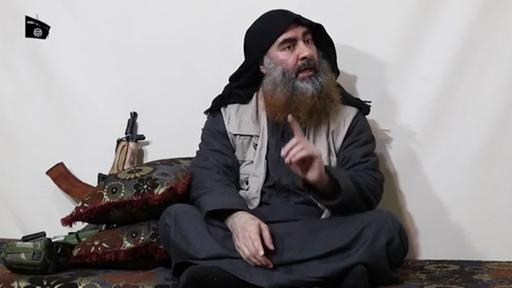 Video mit angeblich Abu Bakr al-Bagdadi  | AFP