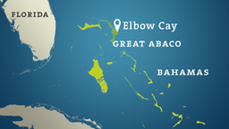 Karte: Bahamas mit Elbow Cay auf der Insel Great Abaco