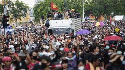Demonstranten in Bangkok | Bildquelle: AP