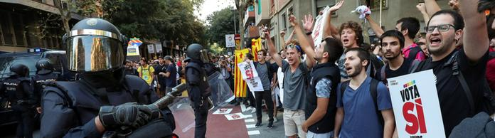 Proteste in Barcelona | Bildquelle: REUTERS