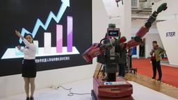 Roboter Baxter auf der  World Robot Conference in Peking