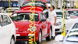 Produktion des VW Beetle in Mexiko
