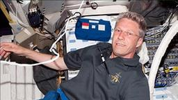 Thomas Reiter in der ISS (Archivbild)