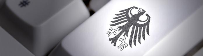 Computertastatur mit Bundesadler | Bildquelle: picture-alliance