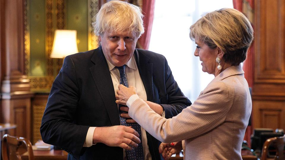 Boris Johnson und Julie Bishop