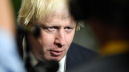 Boris Johnson gibt nach der May-Rede in Florenz ein Interview. | Bildquelle: REUTERS