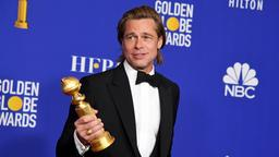 "Brad Pitt gewann den Golden Globe als bester Nebendarsteller in dem Tarantino-Film ""Once Upon a Time in Hollywood"". 