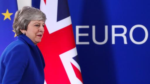 Premierministerin Theresa May in Brüssel | Bildquelle: REUTERS