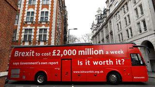 Brexit-Bus in London | Bildquelle: REUTERS