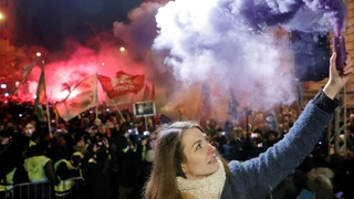 Demonstration in Budapest | Bildquelle: REUTERS