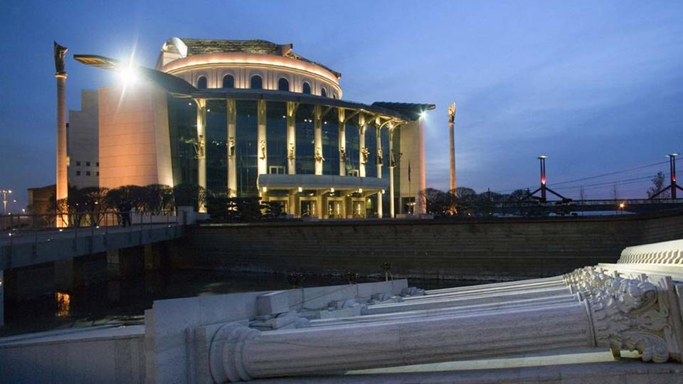 Das Nationaltheater in Budapest