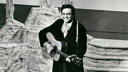 Johnny Cash on stage at the Ryman Auditorium in Nashville, Tennessee.  (Photo: Reuters)