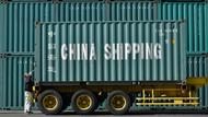 Ein Container der Reederei China Shipping