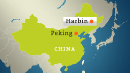 Karte: China mit Harbin