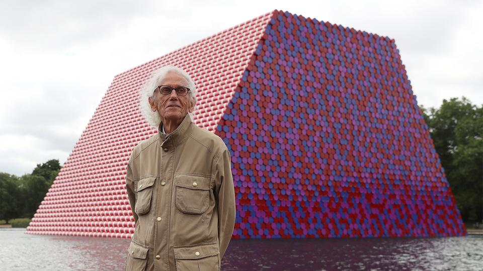 Christo-Kunstwerk im Hyde Park in London