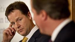 Nick Clegg (links) und David Cameron