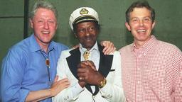 Chuck Berry mit Bill Clinton und Tony Blair