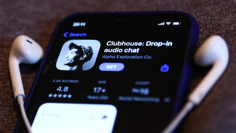 Clubhouse-App auf Smartphone |