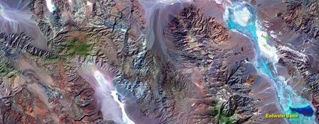 Satellitenbild vom Death Valley, Oktober 2015