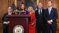 Nancy Pelosi, Adam Schiff, Jerry Nadler, Eliot Engel, Maxine Waters und Carolyn Maloney