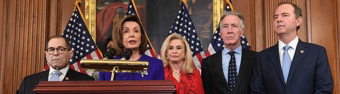 Nancy Pelosi, Adam Schiff, Jerry Nadler, Eliot Engel, Maxine Waters und Carolyn Maloney  | Bildquelle: AFP