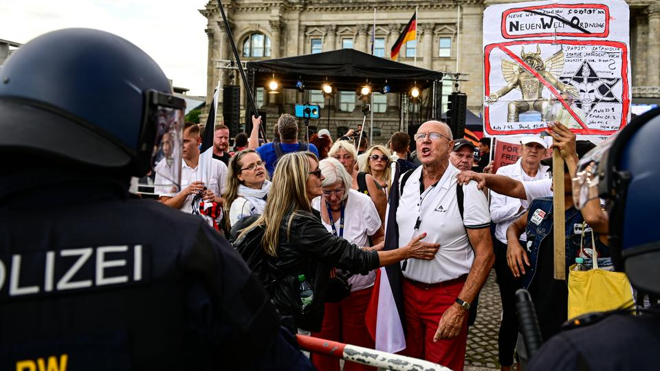 Coronagegner-Demo in Berlin Ende August 2020 | dpa