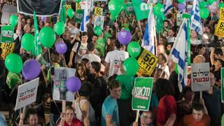 Demonstration in Tel Aviv  | Bildquelle: AFP