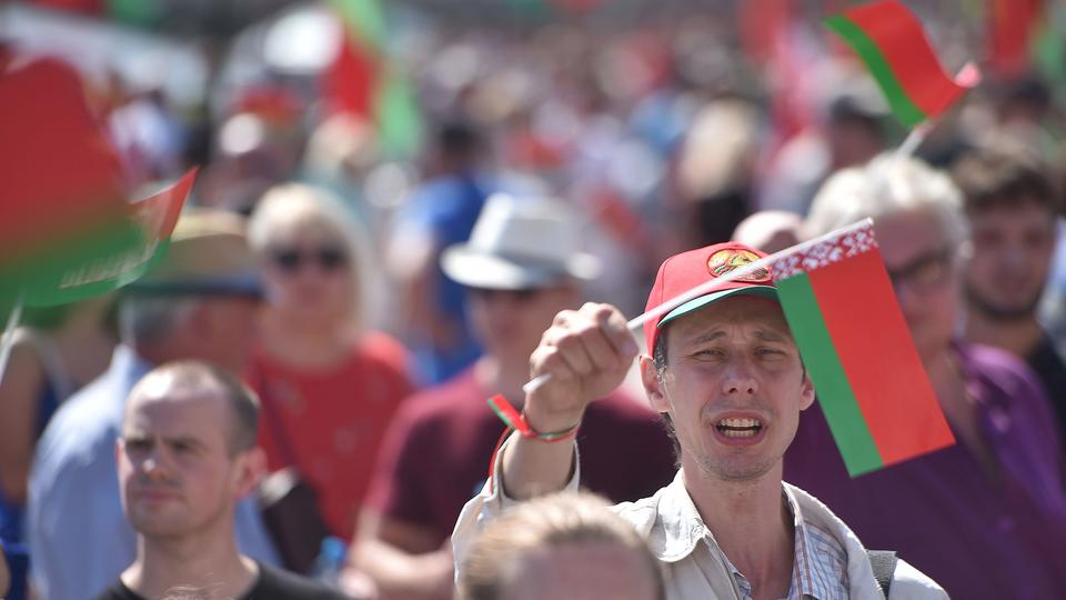 Demonstration in Belarus | Bildquelle: AFP