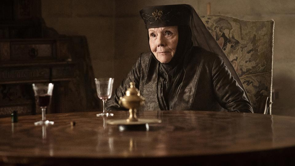 "Diana Rigg als Olenna Tyrel in einer Szene aus ""Game of Thrones"" 