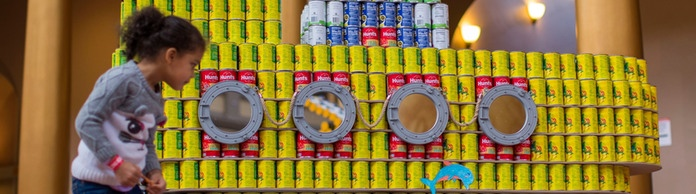 CANstruction-Kunstwerk in Washington | Bildquelle: ERIK S LESSER/EPA-EFE/REX/Shutte